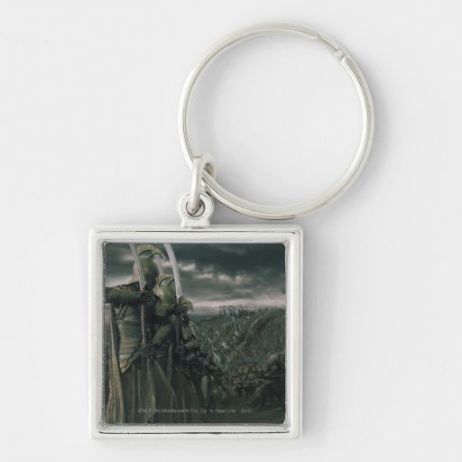 Battle for Middle Earth Silver-Colored Square Keychain