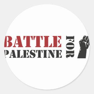 Battle for Palestine Round Stickers