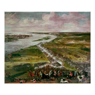 Battle for the Crossing of the Dvina, 1701 Poster