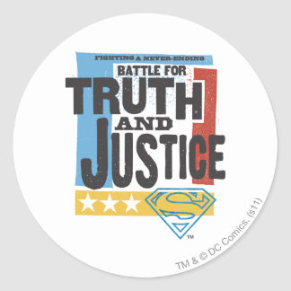 Battle for Truth & Justice Classic Round Sticker