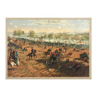 Battle Gettysburg Hancock at Gettysbug Thulstrup Canvas Print