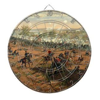 Battle Gettysburg Hancock at Gettysbug Thulstrup Dartboard With Darts