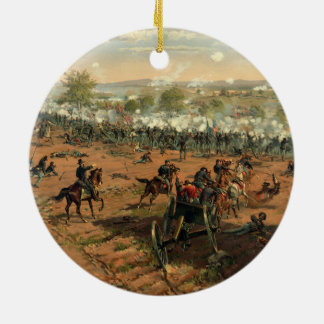 Battle Gettysburg Hancock at Gettysbug Thulstrup Double-Sided Ceramic Round Christmas Ornament