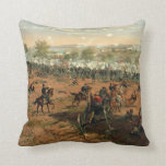 Battle Gettysburg Hancock at Gettysbug Thulstrup Throw Pillows