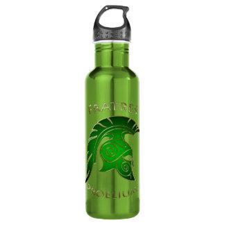 Battle Green Spartan Warrior Green 24oz Water Bottle