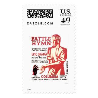 Battle Hymn Drama 1937 WPA Postage Stamp