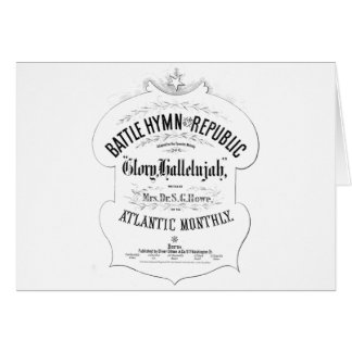 Battle Hymn of the Republic Music Cover Sheet Card