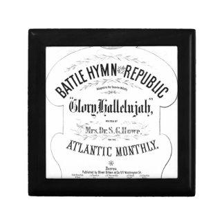 Battle Hymn of the Republic Music Cover Sheet Keepsake Box