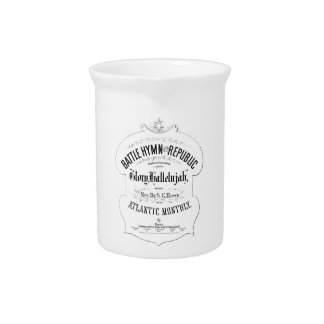 Battle Hymn of the Republic Music Cover Sheet Drink Pitcher