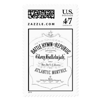 Battle Hymn of the Republic Music Cover Sheet Postage