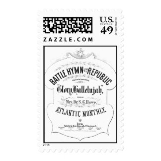 Battle Hymn of the Republic Music Cover Sheet Stamps