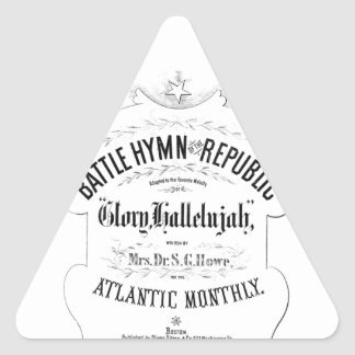 Battle Hymn of the Republic Music Cover Sheet Triangle Sticker