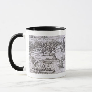 Battle in Jamaica between Christopher Columbus (14 Mug