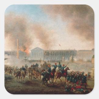 Battle in the Place de la Concorde, 1871 Square Sticker