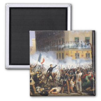 Battle in the rue de Rohan, 28th July 1830, 1831 2 Inch Square Magnet