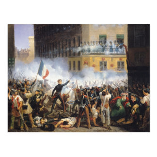 Battle in the rue de Rohan, 28th July 1830, 1831 Postcard