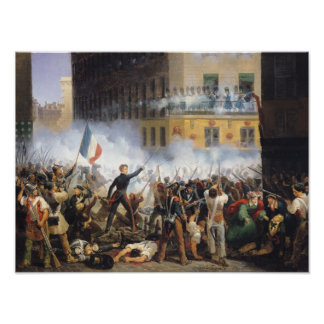 Battle in the rue de Rohan, 28th July 1830, 1831 Poster