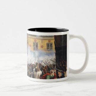 Battle in the rue de Rohan, 28th July 1830, 1831 Two-Tone Coffee Mug