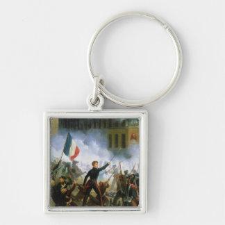 Battle in the Rue de Rohan Silver-Colored Square Keychain