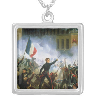 Battle in the Rue de Rohan Square Pendant Necklace