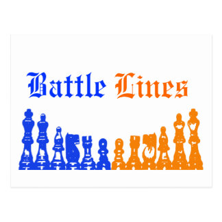 """ Battle Lines "" Postcard"