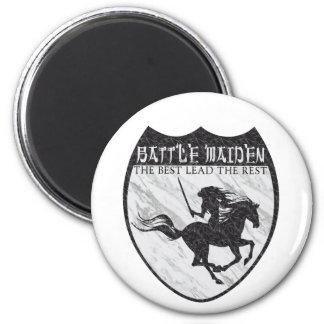 Battle Maiden Fridge Magnet