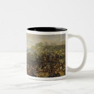 Battle near a Bridge Two-Tone Coffee Mug