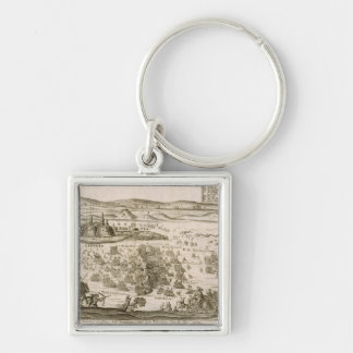 Battle near the Town of Levice in 1664, illustrati Keychain