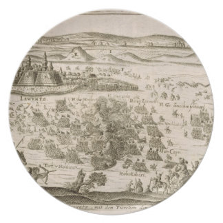 Battle near the Town of Levice in 1664, illustrati Plate