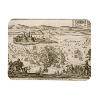 Battle near the Town of Levice in 1664, illustrati Rectangular Photo Magnet