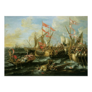 Battle of Actium, 2 September 31 BC; 1672 Poster