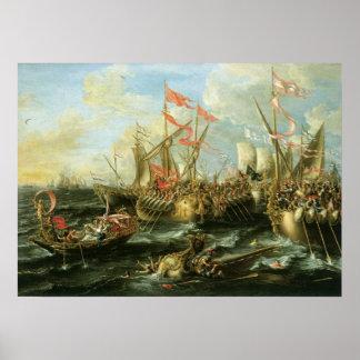 Battle of Actium, 2 September 31 BC; 1672 Poster