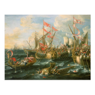 Battle of Actium, Greek and Roman warships Postcard