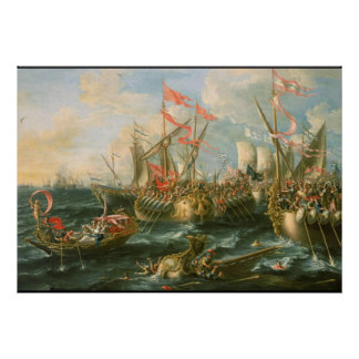 Battle of Actium Vintage Poster
