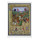 Battle of Agincourt, October 25th 1415 (w/c on pap Poster