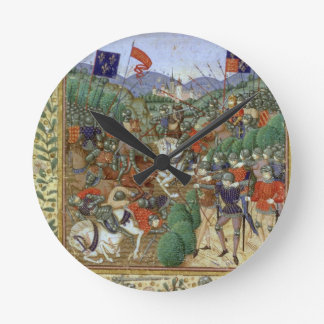Battle of Agincourt, October 25th 1415 (w/c on pap Round Clock