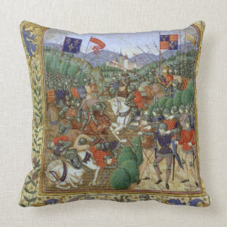 Battle of Agincourt, October 25th 1415 (w/c on pap Throw Pillow