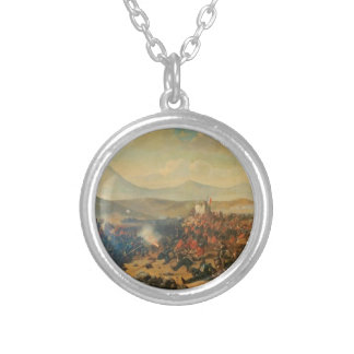 Battle of Alma by Theodor Aman Round Pendant Necklace