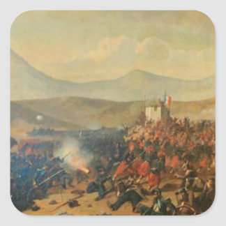 Battle of Alma by Theodor Aman Square Sticker
