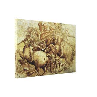 Battle of Anghiari, da Vinci, Vintage Renaissance Gallery Wrap Canvas