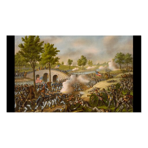 Battle of Antietam--Army of the Potomac: c. 1862 Double-Sided Standard Business Cards (Pack Of 100)