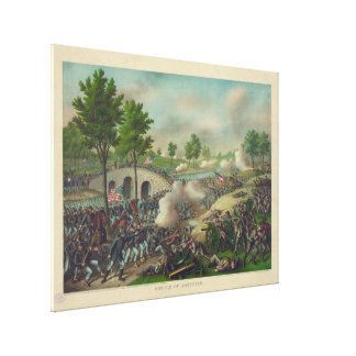 Battle of Antietam by Kurz & Allison Canvas Print