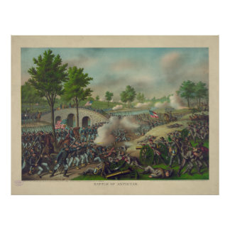Battle of Antietam by Kurz & Allison Poster