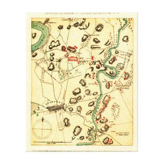 Battle of Antietam - Civil War Panoramic Map 2 Canvas Print