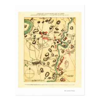 Battle of Antietam - Civil War Panoramic Map 2 Postcard