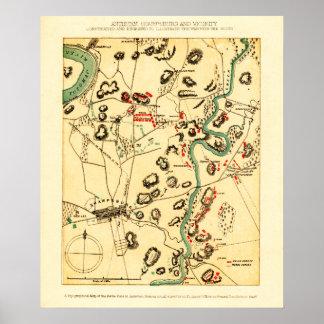 Battle of Antietam - Civil War Panoramic Map 2 Poster