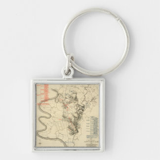 Battle of Antietam - Civil War Panoramic Map 4 Keychain