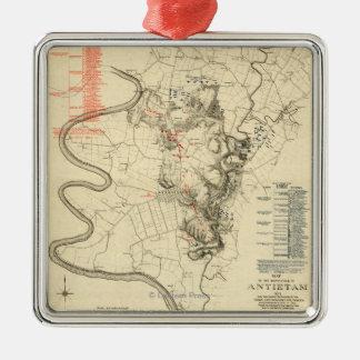 Battle of Antietam - Civil War Panoramic Map 4 Metal Ornament