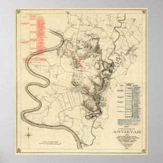 Battle of Antietam - Civil War Panoramic Map 4 Poster