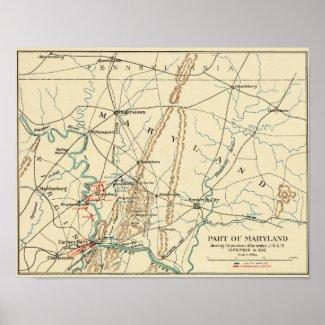 Battle of Antietam - Civil War Panoramic Map 6 Print